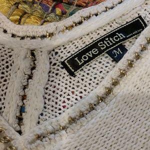 Love Stitch Sweaters - Love Stitch Short Sleeve Sweater
